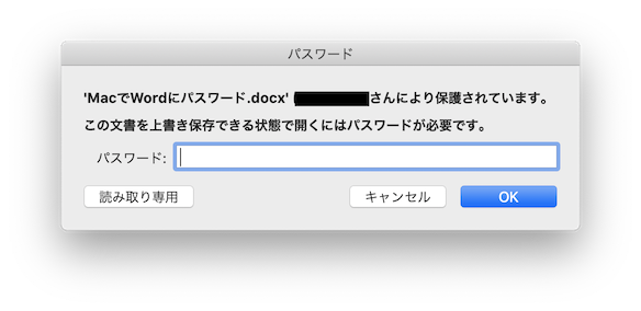 Word for Mac PassWord6