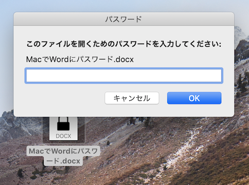 Word for Mac PassWord5